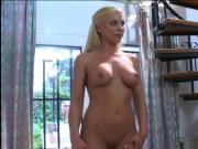 Blonde slut with tender boobs gets her small perky asshole fucked deep and fast