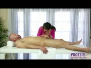 Alluring masseur Peta Jensen gives titty fuck and deepthroat a huge cock