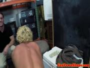 Pawnshop surfer showing off his cock out the back
