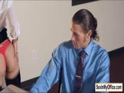 Secretary Jade strips for her busy boss