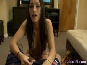 Cock stroking taboo teen