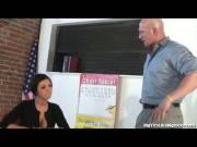 Hot Teacher Gets Titty Fucked After Class