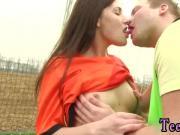 Stunning brunette webcam Dutch football player plumbed by photographer