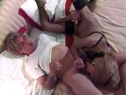 Petite Spanish shemale in stockings gets boned
