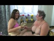 Fat mature women and fat granny masturbate with a toy