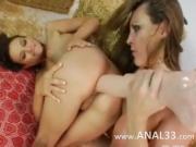elegant anal threesome fucking hard