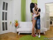 Masha meets her sexy lover as he brings her a sexy yellow rose as a treat