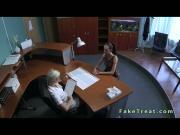 Lesbian blonde nurse licking patient on the desk