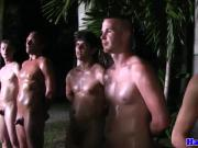 Hazed straight twinks buttfucked outdoors