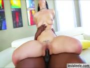 American beauty Katrina lets an enormous black cock fuck her pussy