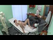 Doctor fucks and creampies sexy amateur patient