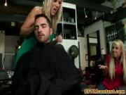 Glam cfnm babes dominate dirty young dude