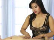 Oriental masseuse blowjobs clients cock