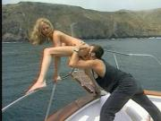 Hung stud gets head on a boat from a sexy blonde then fucks her