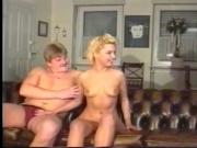 Horny babe likes getting her cunt licked before she getting banged in threesome