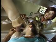 Ambulance ride turns into asian tranny cum delivery