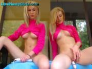 Two Hot Webcam Girls Sit On Vibrators