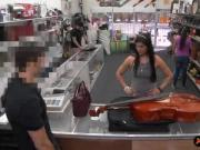 Babe sells her Cello and boned real hard