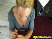 Homemade tugging stepmom in pov action