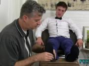 Football player tied up naked gay Logan's Feet & Socks Worshiped