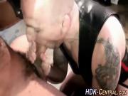 Fetish stud guzzles cum