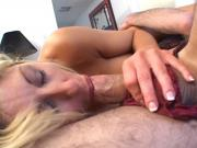 MILF in heat bends over for a thick cock and gets facialized