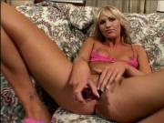 Blonde MILF slut rides stud and gets facial