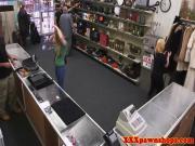 Amateur pawnshop blonde sucks dick pov style