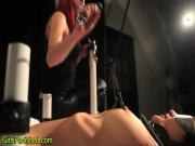 Toyed bdsm slave wax play