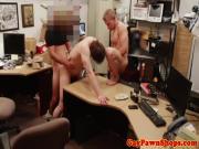 Straight spitroasted jock on pawnshop spycam