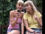 Blonde mother stepson and mom teen lesbian licking Two blond youthful