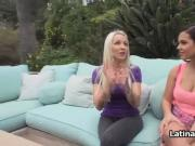 Bigtit blows dumb bf in garden pov style