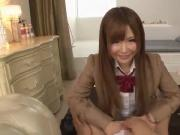 Lively Japanese schoolgirl Miko gets fucked and creampied