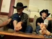 Gay arab foot Cowboy friends Ty and Lee have never wanked off together