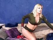 Military blonde gets her tight ass pounded