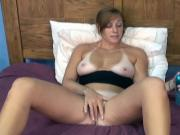 Cock craving cunt gets fingered wet and toyed with in hotel bedroom
