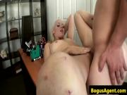 Casted amateur pussylicked and fucked