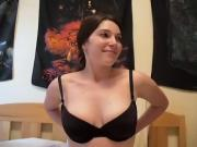 Massaging boobs with oil