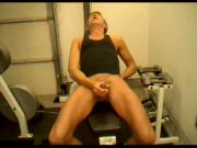 Trainer Dick Dodd cock cum shot demonstration