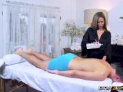 Blonde hottie Subil Arch gets penetrated on massage table