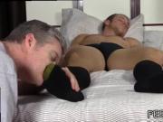 Dildo fetish gay movie and gay male sex shaman Sleepy Kenny Gets Foot
