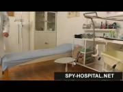 Hot latina in fishnet stockings gyno exam spy cam video