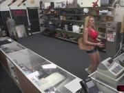 Blonde and busty woman tries to sell her Tiara and gets hammered