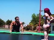 Horny midget slut fucked in pussy and ass