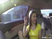 Teen hitchhiker London loves big dicks