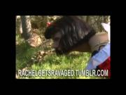 Snow white ass and face fucked hard