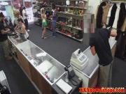 Ebony pawnshop amateur strips for cash