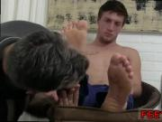 Teen boy toes naked suck gay full length Logan's Feet & Socks Worshiped