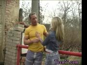 Busty blonde mom and friend first time Josje poking her paramour outdoors