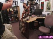 Slutty high lighted hair bitch engages in a hardcore fucked in the shop
